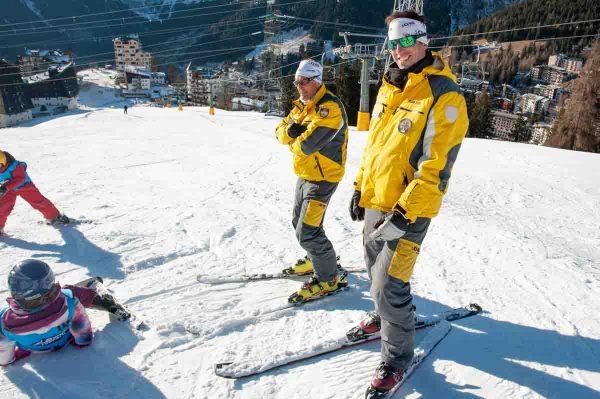 simone e giuseppe maestri di sci